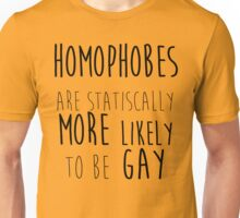 Homophobes are Gay Unisex T-Shirt