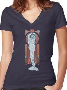 Girl in the plastic dress Women's Fitted V-Neck T-Shirt