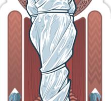 Girl in the plastic dress Sticker