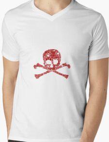 Gamer skull Mens V-Neck T-Shirt