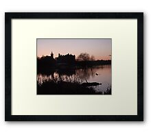 Sunset over Linlithgow Palace and Loch Framed Print