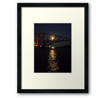 Forth Rail Bridge in the Moonlight Framed Print