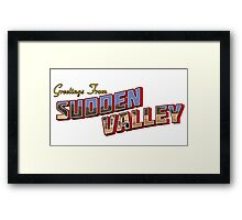 Greetings from Sudden Valley Framed Print