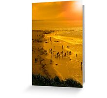 people enjoying the beach Greeting Card