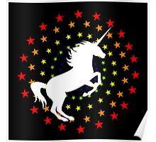 Unicornrainbowstar Poster