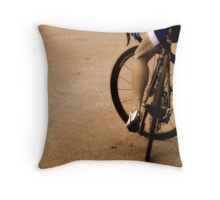 Waiting on Wheels Throw Pillow