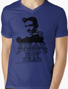 Nikola Tesla was a punk Mens V-Neck T-Shirt