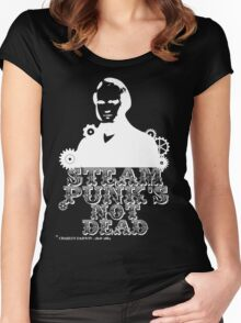Charles Darwin was a white punk Women's Fitted Scoop T-Shirt