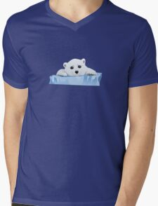 Poor Polar Bear Mens V-Neck T-Shirt