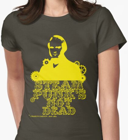 Charles Darwin was a yellow punk Womens Fitted T-Shirt