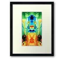 The Wedding - Abstract Art By Sharon Cummings Framed Print