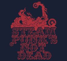 steampunk's not dead (red) One Piece - Short Sleeve
