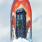 TARDIS in a snow globe by WhovianLillie