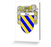 Diaz Coat of Arms/Family Crest Greeting Card