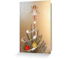 Fairy Atop The Christmas Tree Greeting Card