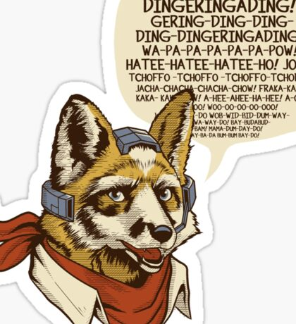 What Does the Star Fox Say? Sticker