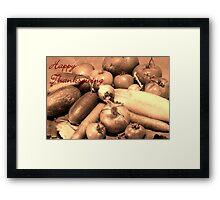 Happy Thankgiving Framed Print