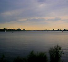 Alster serene waterscape sunrise by VibrantDesigns