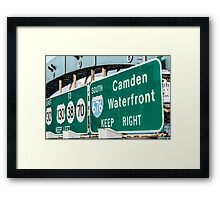 Keep Right Framed Print