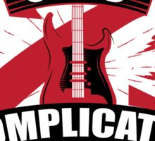 When life gets complicated I play the guitar Sticker
