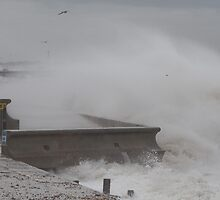 Stormy Seas at Herne Bay  Kent by Keith Larby