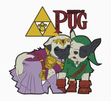 Legend of Pug: Zelda/Pug Cross Kids Tee