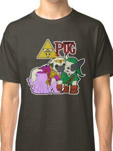 Legend of Pug: Zelda/Pug Cross Classic T-Shirt