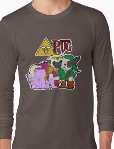 Legend of Pug: Zelda/Pug Cross Long Sleeve T-Shirt