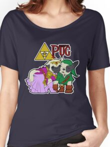 Legend of Pug: Zelda/Pug Cross Women's Relaxed Fit T-Shirt