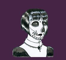 Dia De Los Muertos Portrait #1 Womens Fitted T-Shirt
