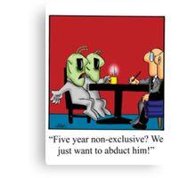 Funny Lawyer Cartoon Canvas Print