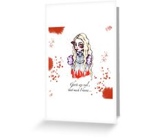 Edith and the Butterflies Greeting Card