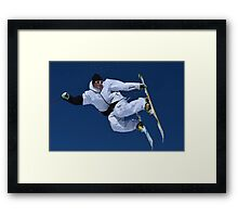 Free Style Jump Framed Print