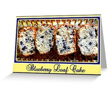Blueberry Loaf Cake Greeting Card