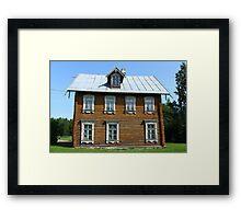 log House Framed Print