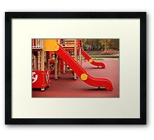 playground slide Framed Print