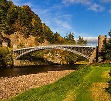 CRAIGELLACHIE THE BRIDGE IN AUTUMN by JASPERIMAGE