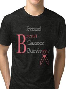 Proud Breast Cancer Survivor Tri-blend T-Shirt