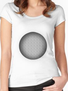 Retro Hole Women's Fitted Scoop T-Shirt