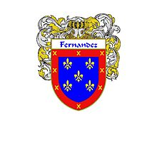 Fernandez Coat of Arms/Family Crest Photographic Print