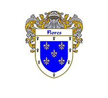 Flores Coat of Arms/Family Crest Photographic Print