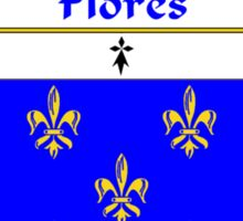 Flores Coat of Arms/Family Crest Sticker