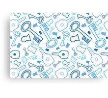Keys line art pattern Canvas Print