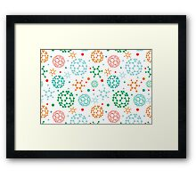 Colorful molecules pattern Framed Print