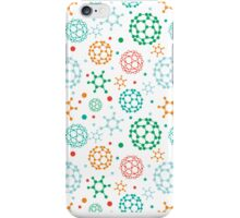 Colorful molecules pattern iPhone Case/Skin