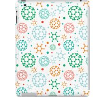 Colorful molecules pattern iPad Case/Skin