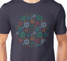 Colorful molecules pattern Unisex T-Shirt