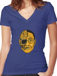 """Gustavo Fring"" Women's Fitted V-Neck T-Shirt"