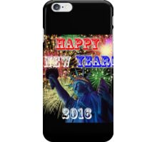 Happy New Year 2016 with Statue of Liberty iPhone Case/Skin