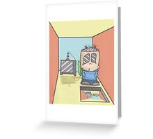 Awe in Observing the Speculum Greeting Card